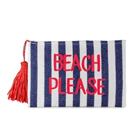 Magid Beach Please Insulated Straw Clutch Swimwear Bag