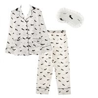 Dachshund 3 Piece Pajama Set Lounge Pants