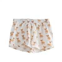 Chihuahua Dog Print Pajama Lounge Shorts