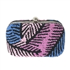 From St Xavier Palm Beaded Box Clutch