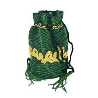 From St Xavier Paradise Palm Beaded Drawstring Pouchette