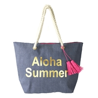 Aloha Summer Beach Bag Packable Tote