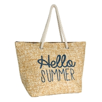 Hello Summer Beach Bag Packable Large Tote