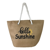 Magid Hello Sunshine Packable Large Straw Tote
