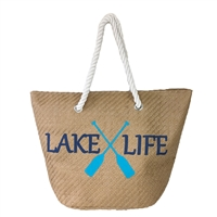 Magid Lake Life Packable Large Straw Tote
