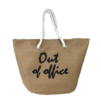 Magid Out Of Office Packable Large Straw Tote