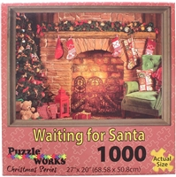 Christmas Series Waiting for Santa 1000 Pc Jigsaw Puzzle