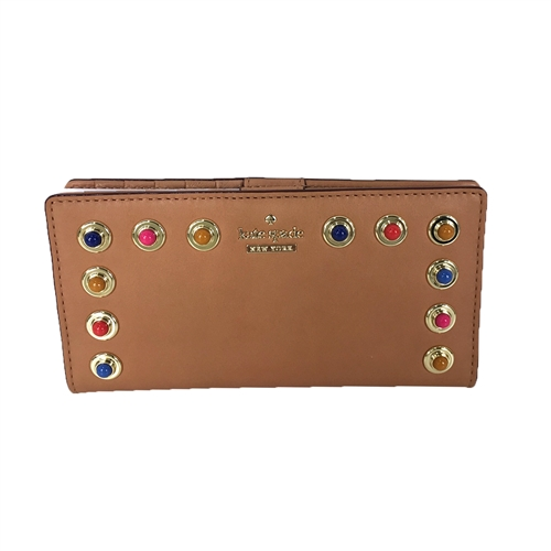 Kate Spade Colorful Stones Stacy Vachetta Leather Bifold Wallet