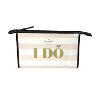 Kate Spade I Do I Did Bridal Iris Travel Cosmetic Bag