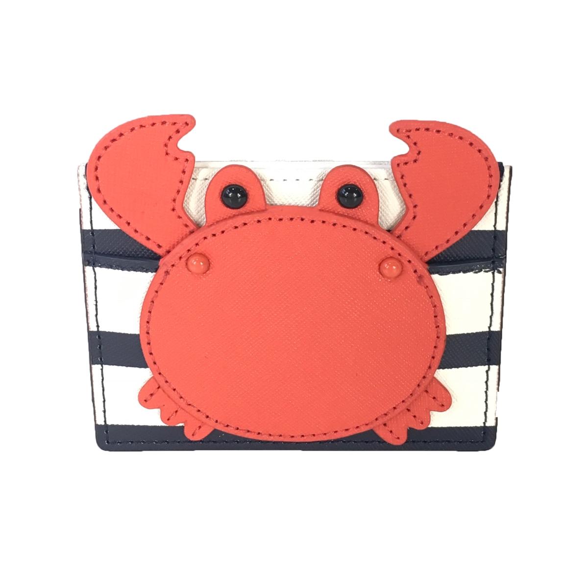 more photos 7fefa 10889 Kate Spade Shore Thing Crab Applique Card Case, Multi