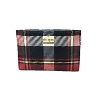 Kate Spade Cameron Street Rustic Plaid Card Case