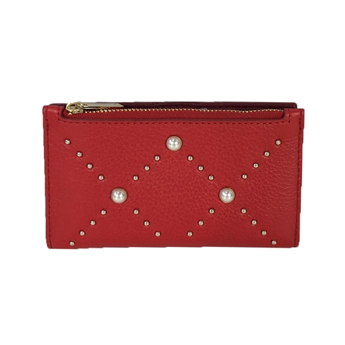 Kate Spade Pearl Mikey Leather Bifold Wallet