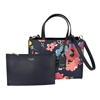 Kate Spade Sam Wildflower Leather Satchel w Zip Pouch