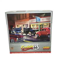 Bruce Kaiser Cruisin Phils Diner 1000 Piece Jigsaw Puzzle