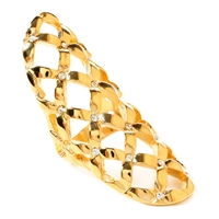 Amrita Singh Rosaline Open Weave Statement Ring