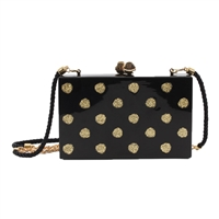 isti Whitiker Glitter Polka Dot Box Clutch
