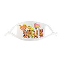 Kids Smile Birds 3 Layer Reusable Small Face Covering