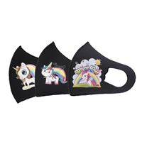Kids Rainbow Unicorns Face Mask with Valve
