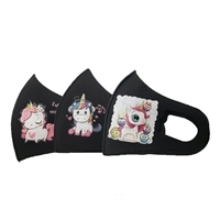 Kids Unicorns Reuseable Face Covering with Valve