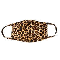 Leopard Print 3 Layer Reusable Face Covering