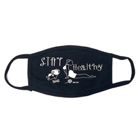 Stay Healthy Yoga Graphic Rhinestones Face Mask