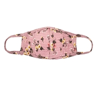 Floral Print Reusable Small Cover Face Covering