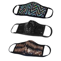 Swag Sequin Mesh 3D Reusable Face Mask 3 Pack