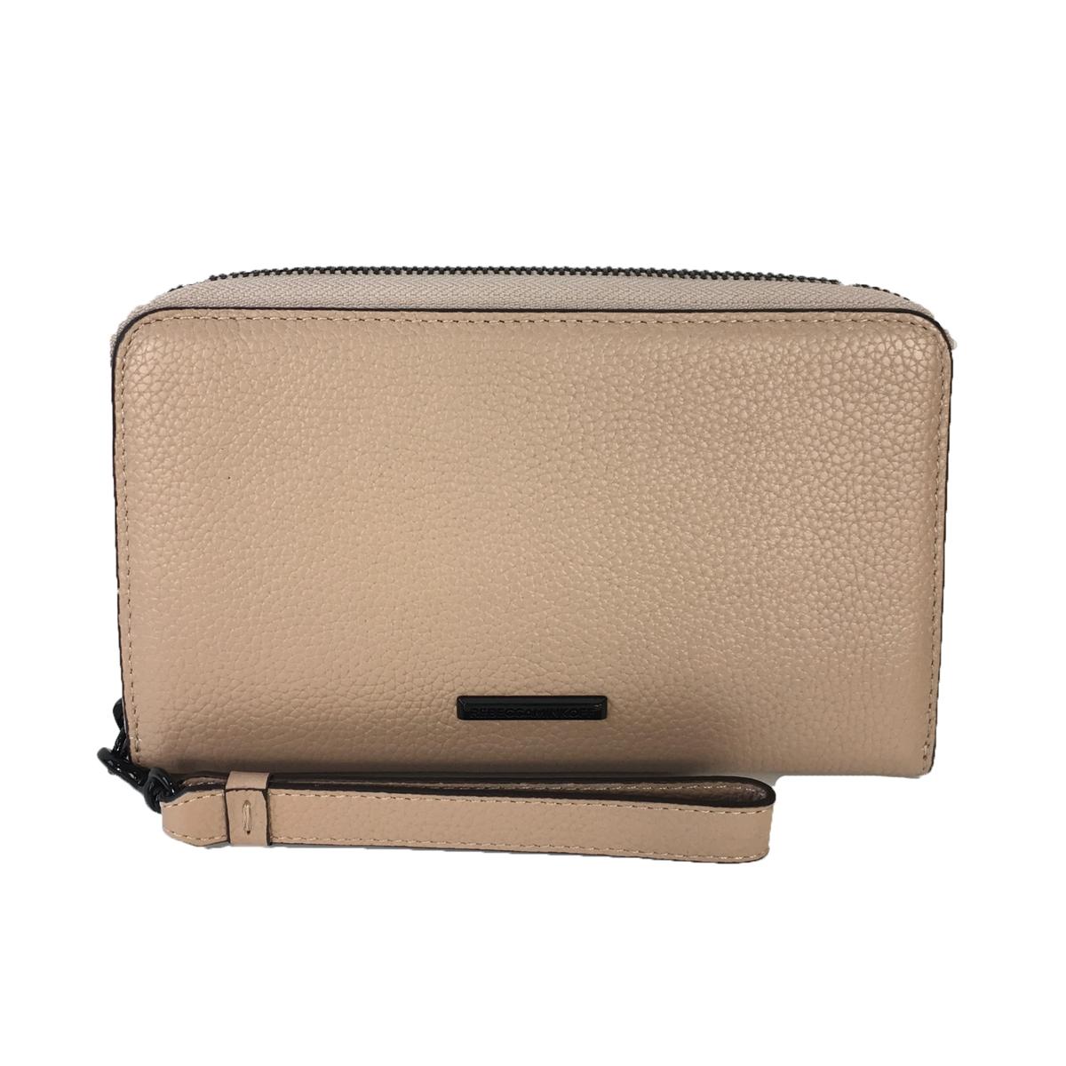 new product 9cad3 cfab4 Rebecca Minkoff Regan Universal iPhone Plus Leather Wristlet Wallet, Nude