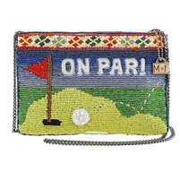 Mary Frances On Par Golf Tee Beaded Crossbody