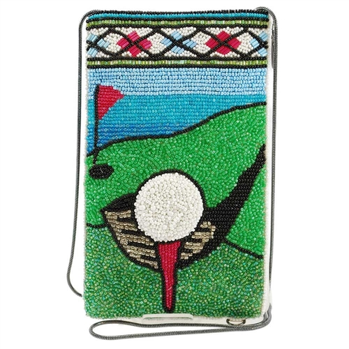 Mary Frances Fairway Golf Beaded iPhone Crossbody