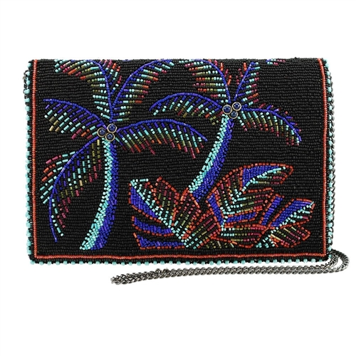 Mary Frances Panama Nights Palm Trees Convertible Crossbody