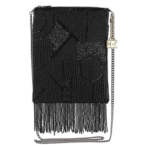 Mary Frances Can't Resist Beaded Fringe Mini Crossbody