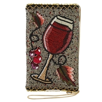 Mary Frances Vino Wine Beaded iPhone Crossbody