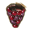 Mary Frances Vino Grape Bunch Emboridered Beaded Zip Coin Purse