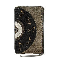 Mary Frances Music Record Beaded Phone Crossbody