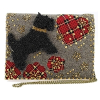 Mary Frances Scottie Love Scottish Terrier Dog Convertible Clutch