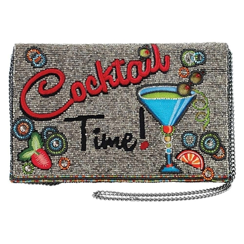 Mary Frances Cocktail Time Beaded Convertible Clutch Crossbody