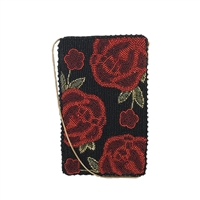 Mary Frances Spanish Rose Beaded iPhone Crossbody