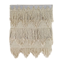 Mary Frances Flapper Beaded Fringe Crossbody