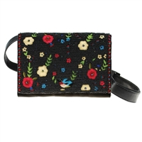 Mary Frances Buds Forever Floral Beaded Convertible Belt Bag Crossbody