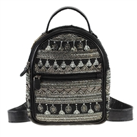 Mary Frances Kismet Beaded Mini Backpack