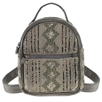Mary Frances Smoke Out Beaded Mini Backpack