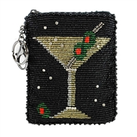 Mary Frances Martini Beaded Zip Coin Purse