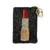 Mary Frances Touch Up Lipstick Beaded Zip Coin Purse