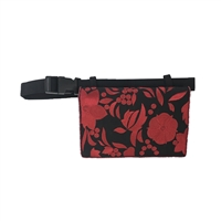 Mary Frances Embroidered Floral Bordeaux Belt Bag Waist Pack