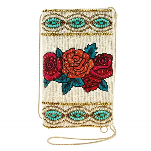 Mary Frances Fridas Flowers Beaded iPhone Crossbody