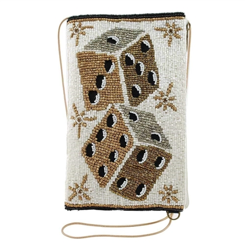 Mary Frances Dicey Dice Roll Beaded iPhone Crossbody