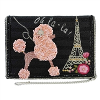 Mary Frances Oh La La Poodle in Paris Convertible Crossbody