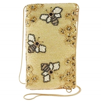 Mary Frances Oh Honey Bee Hive Beaded iPhone Crossbody