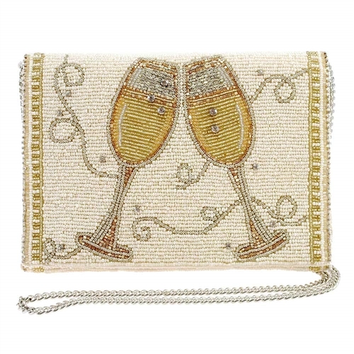 Mary Frances Champagne Toast Convertible Bridal Clutch